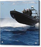 U.s. Navy Sailors Operate A Nine-meter Acrylic Print