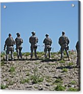 U.s. Soldiers Looking Over The Side Acrylic Print