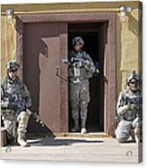 U.s. Soldiers On Guard At Fort Irwin Acrylic Print