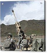 U.s. Soldiers Prepare To Fire Acrylic Print