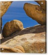 Usa, California, Joshua Tree National Park, Arch Rock Acrylic Print