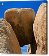 Usa, California, Joshua Tree National Park, Desert Rocks Acrylic Print