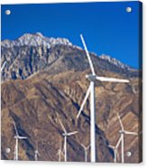 Usa, California, Palm Springs, Wind Farm Acrylic Print