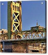 Usa, California, Sacramento, Tower Bridge Over Sacramento River Acrylic Print