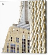Usa, New York City, Detail Of Empire State Building Acrylic Print