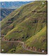 Usa, Washington, Asotin County, Mountain Road Acrylic Print by Gary Weathers