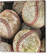 Used Baseballs Acrylic Print by Wade Aiken