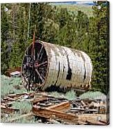Used To Crush Ore Acrylic Print by Kirk Williams