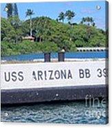 Uss Arizona Bb 39 Marker Acrylic Print