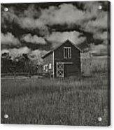 Utah Barn In Black And White Acrylic Print
