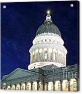 Utah Capitol Building At Twilight Acrylic Print