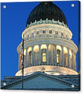 Utah State Capitol Building Dome At Sunset Acrylic Print