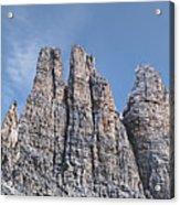 Vajolet Towers, Dolomites, Catinaccio Range Acrylic Print