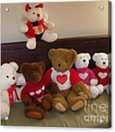 Valentine Bears  Acrylic Print