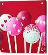 Valentine Cake Pops Acrylic Print