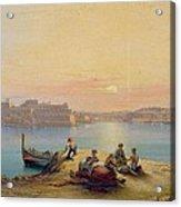 Valetta Harbour At Sunset Acrylic Print
