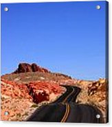 Valley Of Fire Road And Sky Nevada Acrylic Print