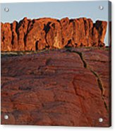Valley Of Fire Rockscape Acrylic Print