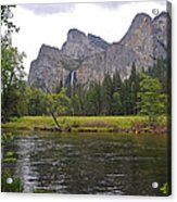 Valley View Of Bridalveil Falls Acrylic Print