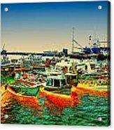 Valparaiso Boats Acrylic Print