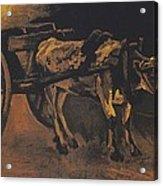 Van Gogh - Karren Mit Rotbraunem Ochsen.jpeg Cart With Red And White  Acrylic Print