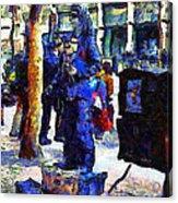 Van Gogh Is Captivated By A San Francisco Street Performer . 7d7246 Acrylic Print