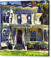 Van Gogh Visits The Old Victorian Camron-stanford House In Oakland California . 7d13440 Acrylic Print