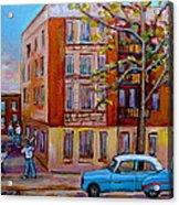 Van Horne Boulevard Montreal Street Scene Acrylic Print