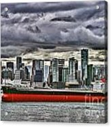 Vancouver Freighter Hdr Acrylic Print