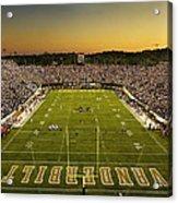 Vanderbilt Endzone View Of Vanderbilt Stadium Acrylic Print