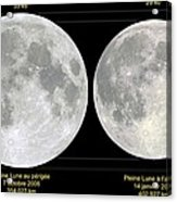 Variation In Apparent Lunar Diameter Acrylic Print