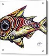 Variegated Red Fish In Stipple Acrylic Print