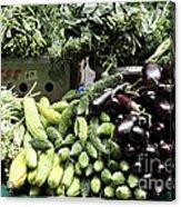 Variety Of Fresh Vegetables - 5d17828 Acrylic Print