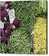 Variety Of Fresh Vegetables - 5d17898 Acrylic Print by Wingsdomain Art and Photography
