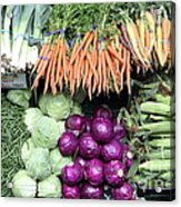 Variety Of Fresh Vegetables - 5d17910 Acrylic Print
