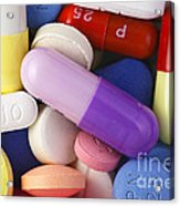 Variety Of Pills Acrylic Print by M. I. Walker