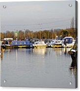 Various Boats At Barton Marina Acrylic Print