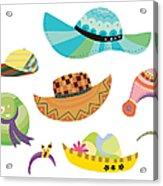 Various Hats Acrylic Print