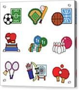 Various Sports Acrylic Print