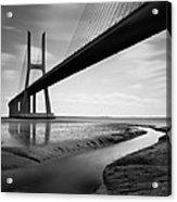 Vasco Da Gama Bridge Iv Acrylic Print by Nina Papiorek