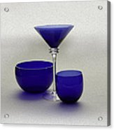 Vases Of Blue Acrylic Print