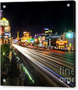 Vegas Light Trails Acrylic Print