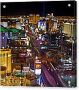 Vegas Strip At Night Acrylic Print