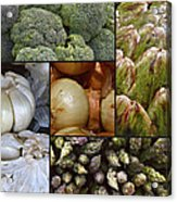 Vegetable Montage Acrylic Print by Forest Alan Lee