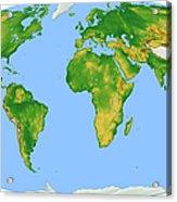 Vegetation Map -- Oval Projection Acrylic Print