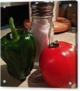 Veggies And Salt Acrylic Print