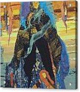 Veiled Woman With Spirit Child Acrylic Print by Roberta Baker
