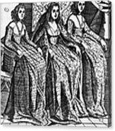 Venetian Women, C1600 Acrylic Print