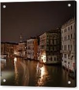 Venice By Night Acrylic Print by Joana Kruse