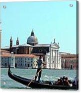 Venice From A Gandola Acrylic Print